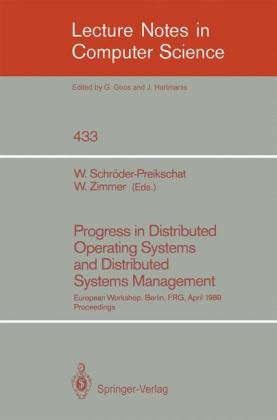 Buch: Progress in Distributed Operating Systems and Distributed Systems Management