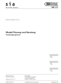 Norm: SIA 111:2014. Modell Planung und Beratung