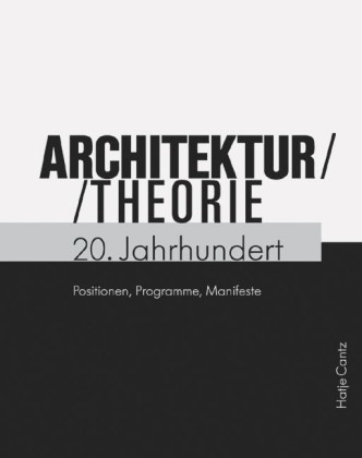 buch architekturtheorie 20 jahrhundert fraunhofer irb. Black Bedroom Furniture Sets. Home Design Ideas
