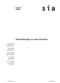 Buch: Anforderung an neue Zemente