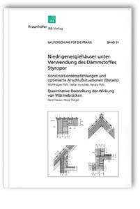 Buch: Niedrigenergiehäuser unter Verwendung des Dämmstoffes Styropor