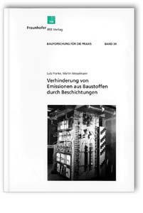 Buch: Verhinderung von Emissionen aus Baustoffen durch Beschichtungen