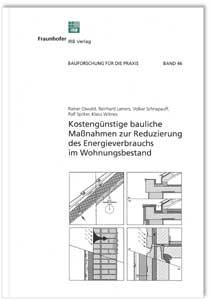 Buch: Kostengünstige bauliche Maßnahmen zur Reduzierung des Energieverbrauchs im Wohnungsbestand