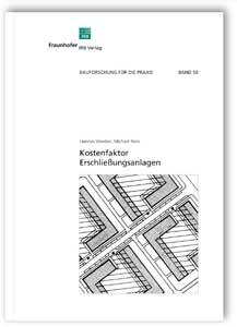Buch: Kostenfaktor Erschließungsanlagen