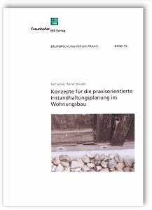Buch: Konzepte für die praxisorientierte Instandhaltungsplanung im Wohnungsbau