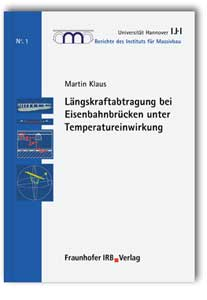 Buch: Längskraftabtragung bei Eisenbahnbrücken unter Temperatureinwirkung