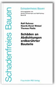 Buch: Schäden an Abdichtungen erdberührter Bauteile