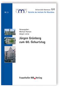 Buch: Jürgen Grünberg zum 60. Geburtstag