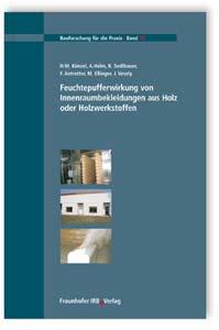 Buch: Feuchtepufferwirkung von Innenraumbekleidungen aus Holz oder Holzwerkstoffen