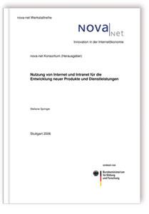 Buch: Nutzung von Internet und Intranet für die Entwicklung neuer Produkte und Dienstleistungen. Werkstattbericht