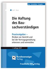 Buch: Die Haftung des Bausachverständigen