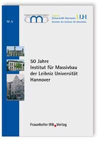 Buch: 50 Jahre Institut für Massivbau der Leibniz Universität Hannover