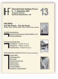 Buch: 13. Internationales Holzbau-Forum. 2 Bände