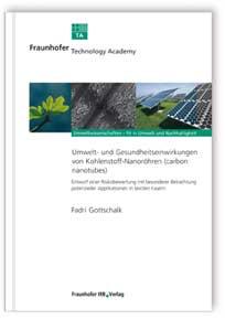 Buch: Umwelt- und Gesundheitseinwirkungen von Kohlenstoff-Nanoröhren (carbon nanotubes)