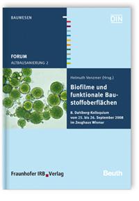 Buch: Forum Altbausanierung 2. Biofilme und funktionale Baustoffoberflächen
