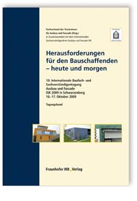 Buch: Herausforderungen für den Bauschaffenden - heute und morgen
