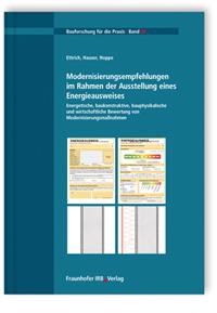 Buch: Modernisierungsempfehlungen im Rahmen der Ausstellung eines Energieausweises