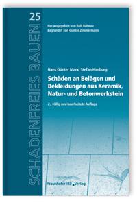 Buch: Schäden an Belägen und Bekleidungen aus Keramik, Natur- und Betonwerkstein