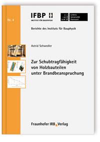 Buch: Zur Schubtragfähigkeit von Holzbauteilen unter Brandbeanspruchung