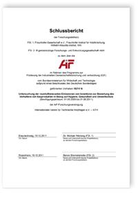 Forschungsbericht: Untersuchung der raumluftrelevanten Emissionen von Innentüren zur Bewertung des Verhaltens von Bauprodukten in Bezug auf Hygiene, Gesundheit und Umweltschutz. Abschlussbericht