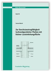 Buch: Zur Durchstanztragfähigkeit lochrandgestützter Platten mit kleiner Lasteinleitungsfläche