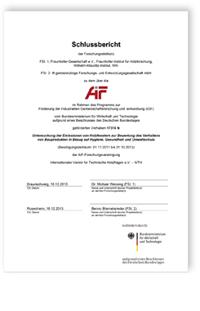 Forschungsbericht: Untersuchung der Emissionen von Holzfenstern zur Bewertung des Verhaltens von Bauprodukten in Bezug auf Hygiene, Gesundheit und Umweltschutz. Abschlussbericht