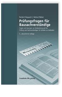 Buch: Prüfungsfragen für Bausachverständige