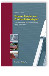 Buch: Privater Betrieb von Photovoltaikanlagen