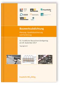 Buch: Bauwerksabdichtung - Planung, Qualitätssicherung und Sanierung