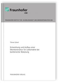 Buch: Entwicklung und Aufbau einer Monitorstruktur für Lotkontakte bei kombinierter Belastung