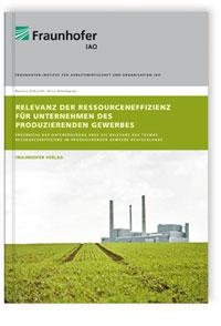 Buch: Relevanz der Ressourceneffizienz für Unternehmen des produzierenden Gewerbes