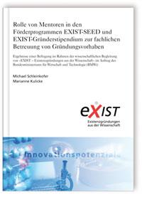 Buch: Rolle von Mentoren in den Förderprogrammen EXIST-SEED und EXIST-Gründerstipendium zur fachlichen Betreuung von Gründungsvorhaben