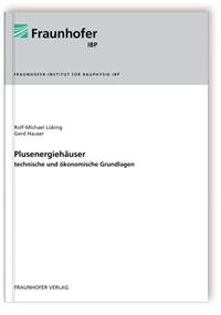 Buch: Plusenergiehäuser - technische und ökonomische Grundlagen