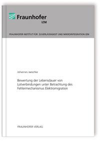 Buch: Bewertung der Lebensdauer von Lotverbindungen unter Betrachtung des Fehlermechanismus Elektromigration