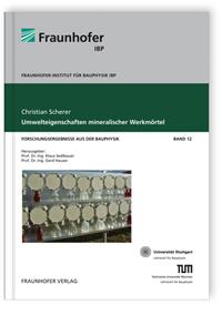 Buch: Umwelteigenschaften mineralischer Werkmörtel