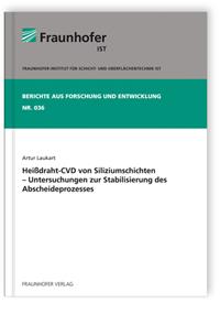 Buch: Heißdraht-CVD von Siliziumschichten - Untersuchungen zur Stabilisierung des Abscheideprozesses
