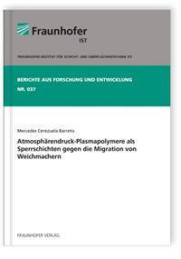Buch: Atmosphärendruck-Plasmapolymere als Sperrschichten gegen die Migration von Weichmachern