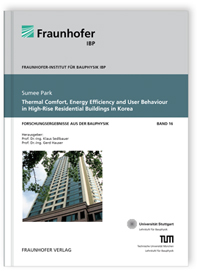 Buch: Thermal Comfort, Energy Efficiency and User Behaviour in High-Rise Residential Buildings in Korea