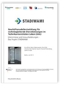 Buch: Geschäftsmodellentwicklung für wohnbegleitende Dienstleistungen im Technikunterstützten Leben (AAL)