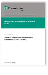 Buch: Funktionale Polyelektrolytschichten für mikrofluidische Systeme