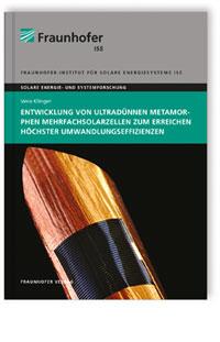 Buch: Entwicklung von ultradünnen metamorphen Mehrfachsolarzellen zum Erreichen höchster Umwandlungseffizienzen