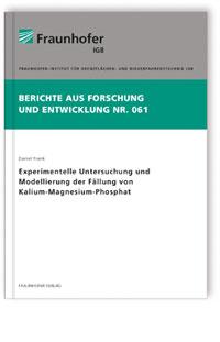 Buch: Experimentelle Untersuchung und Modellierung der Fällung von Kalium-Magnesium-Phosphat