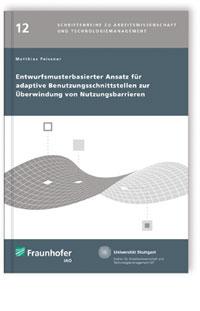 Buch: Entwurfsmusterbasierter Ansatz für adaptive Benutzungsschnittstellen zur Überwindung von Nutzungsbarrieren