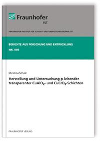 Buch: Herstellung und Untersuchung p-leitender transparenter CuAlO2- und CuCrO2-Schichten