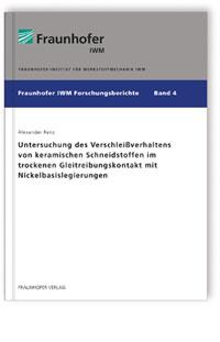 Buch: Untersuchung des Verschleißverhaltens von keramischen Schneidstoffen im trockenen Gleitreibungskontakt mit Nickelbasislegierungen