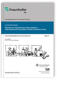 Buch: Methode zur Abschätzung sozialer Aspekte in Lebenszyklusuntersuchungen auf Basis statistischer Daten