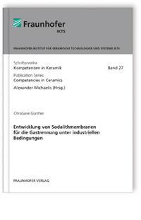 Buch: Entwicklung von Sodalithmembranen für die Gastrennung unter industriellen Bedingungen