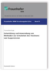 Buch: Entwicklung und Anwendung von Methoden zur Simulation des Trocknens von Suspensionen