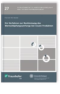Buch: Ein Verfahren zur Bestimmung des Wertschöpfungsumfangs bei neuen Produkten