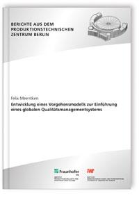 Buch: Entwicklung eines Vorgehensmodells zur Einführung eines globalen Qualitätsmanagementsystem